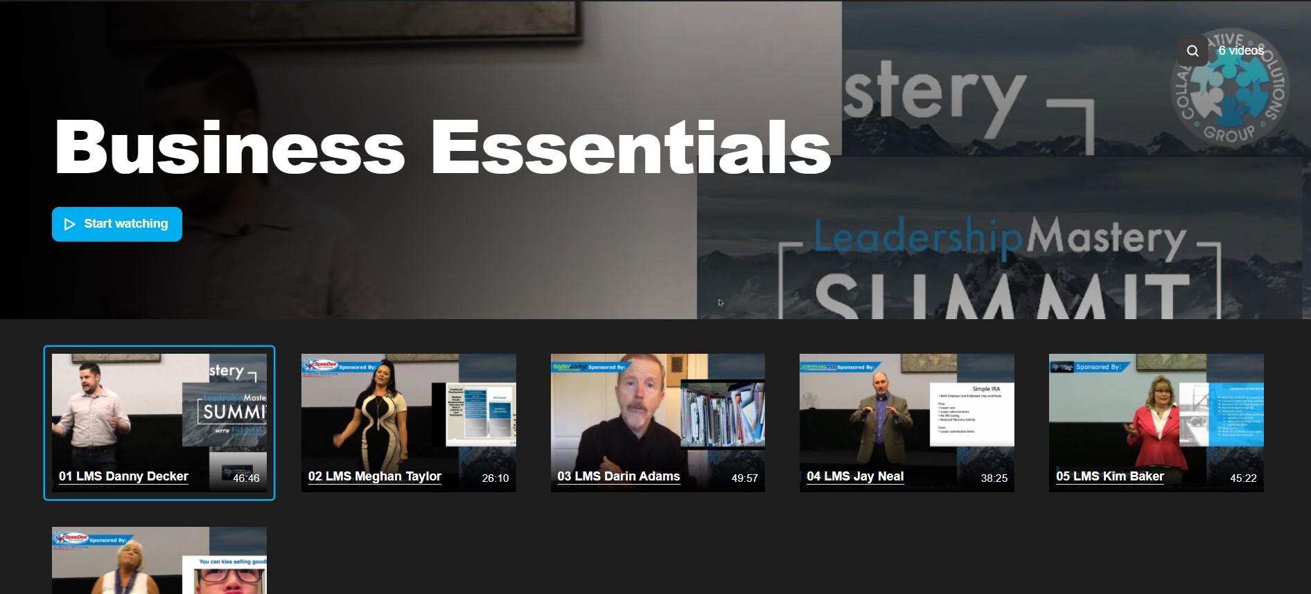 Business Essentials Video Course