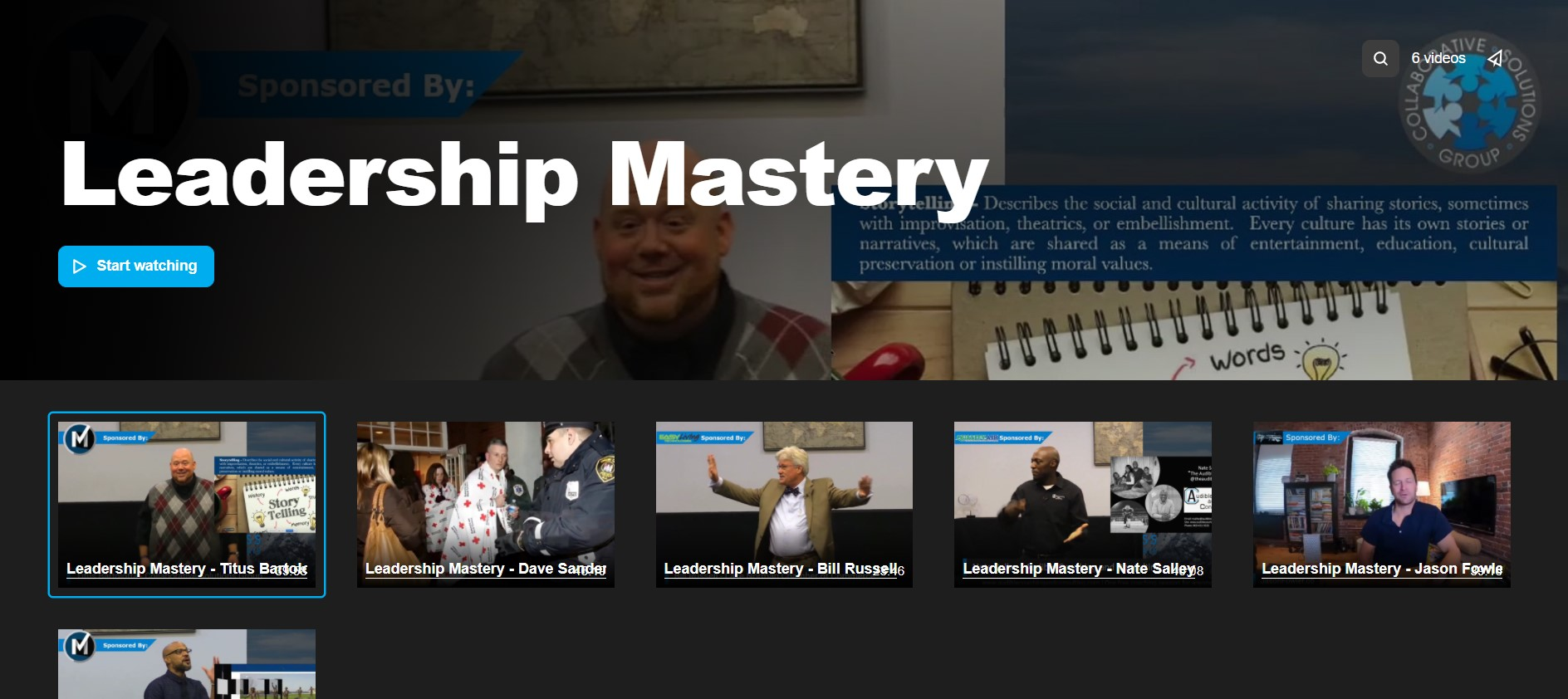 Leadership Mastery Video Course