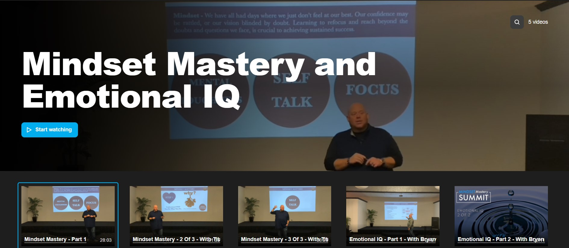 Mindset Mastery and Emotional IQ Video Course